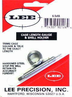 TRIMMER - marca LEE - modello Case Length Gauge & Shell Holder - calibro 6,5X55 - misura TRIMS CASE 90126 3905