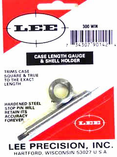 TRIMMER - marca LEE - modello 90142 Case Length Gauge & Shell Holder - calibro 300WM - misura TRIMS CASE 90142 4237