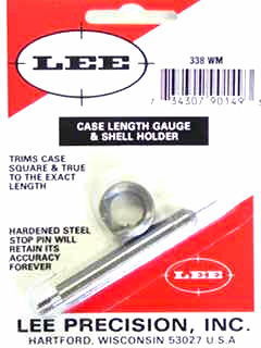 TRIMMER - marca LEE - modello Case Length Gauge & Shell Holder - calibro 338 WIN.MAG - misura  4345