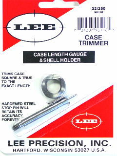 TRIMMER - marca LEE - modello 90116 Case Length Gauge & Shell Holder - calibro 22-250 - misura  4348