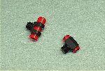MIRINO - marca AV - modello MIRINO LUMINOSO PLASTICA A VITE - calibro Plastica - misura 2-2,5-3-3,5-4 ROSSO/BIANCO