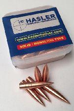 PALLE - marca HASLER - modello Ogiva LR cal. 6,5 (.264) da 128 grn cb 0,465 - calibro 6,5 (264) - misura 128gr