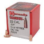 PALLE - marca HORNADY - modello 2229 HP/BEE 45gr - calibro 22 (224) - misura 45gr