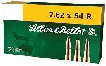 Cartucce - marca SELLIER & BELLOT - modello 2909-2 FMJ 180gr - calibro 7,62x54R