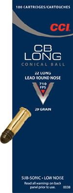 Cartucce - marca CCI - modello 0038 CB MINI-CAP 29 grain lead round nose at 710 ft/sec - calibro 22LR
