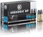 Cartucce - marca RWS - modello 13266 Subsonic HP - calibro 22LR