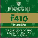 Cartucce - marca FIOCCHI - modello F410 19G 7,5 36 76 16 - calibro CAL.410