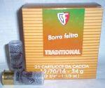 Cartucce - marca FIOCCHI - modello TRADITIONAL -12-TRS 12/70/16 - calibro CAL.12