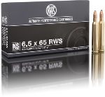 Cartucce - marca RWS - modello 11698 KS 8.2g - calibro 6,5x65R