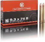 Cartucce - marca RWS - modello 11829 KS 16.0g KEGELSPITZE 247gr - calibro 9,3X74R
